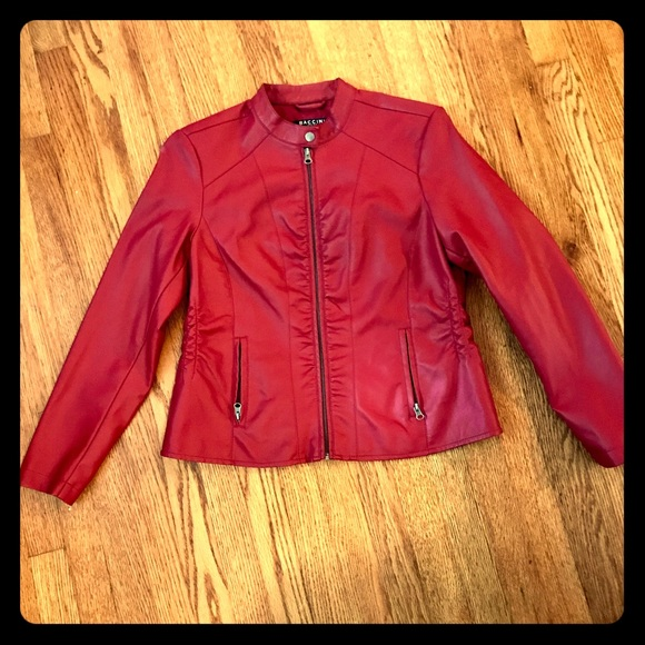 13a824de4 Awesome Red Leather Jacket